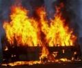 Загорелся автобус около Игры