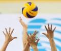 Мужская и женская команды по волейболу в финале республиканс