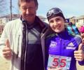Анатолий Корепанов и Дина Некрасова на пробеге 5 мая в Балез